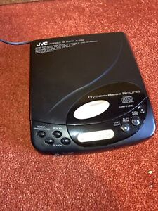 JVC XL-P20 Portable CD Player Black HYPER Bass VINTAGE Japan VGC UK Seller