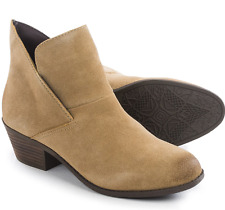 NEW ME TOO ZALE COGNAC SUEDE ANKLE BOOTS BOOTIES WOMENS 10 FREE SHIP