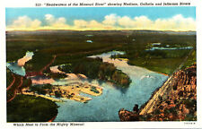 """Mt Montana: """"Headwaters of the Missouri River"""" Unposted Ct American Art Wb Card"""