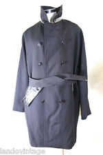 Dolce & GABBANA Virgin Wool Black Belted Trench Coat Suit M - L 40 7 8 9
