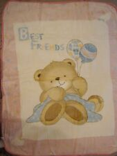 Korean Mink Baby Child Blanket - Teddy Bear - Pink - Premium Quality - Stellamor