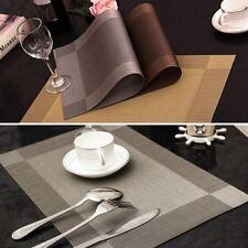 PVC Kitchen Table Cup Bowl Placemat Rectangle Tableware Pad Mat Heat Resistant