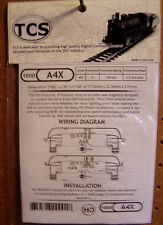 TCS #1000 A4X HO DCC Decoder for Atlas, Athearn, Kato & more