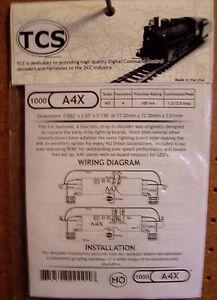 TCS #1000 A4X HO DCC Decoder for Atlas, Athearn, Kato & more