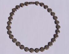 HERMANN SIERSBOL Denmark Mid Century Modern Sterling Silver Necklace Choker Sgnd