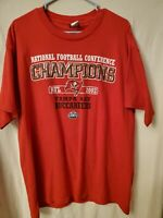 Vintage NFL Tampa Bay Buccaneers 2002 NFC Champions T Shirt Men Size L Large Red