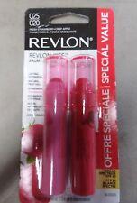 Revlon Kiss Tinted Lip Balm Value Pack  025 FRESH STRAWBERRY & 020 CRISP APPLE.