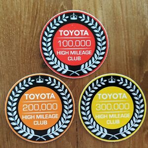 Toyota High Mileage Club Sticker Tundra Tacoma 4Runner TRD Decal FJ Land Cruiser