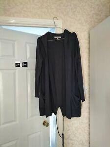 Next Ladies Blue Hooded Cardigan Size 12