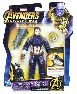"Authentic Marvel Avengers Infinity War Captain America Figure 6"" Hasbro Toy"
