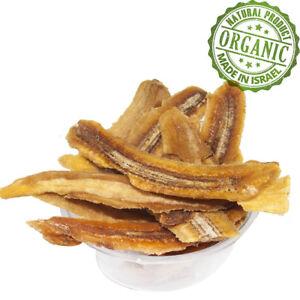 100% Organic Natural Dried Bananas Kosher Natural Israeli Pure Dry Fruit