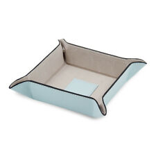 Bey Berk Light Blue Leather Snap Valet with Pig Skin Leather Lining BB500L