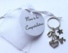 Mum to be gift - Keyring Jewellery charm - Baby Shower  Pregnancy Boy Girl