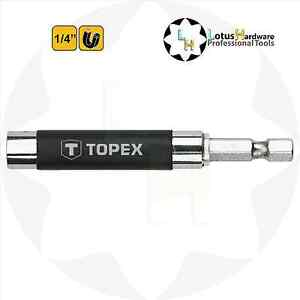 """Screwdriver Hex Bit Holder Magnetic 1/4"""" Extendable Sheath only L=80-120mm"""