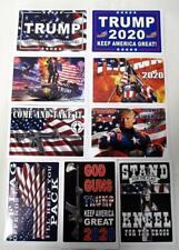 Lot of 9 Trump Car Truck Auto Stickers Decals American Flag Patriotic Maga 4x6