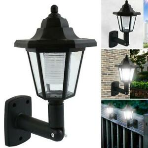 Solar Power LED Path Way Wall Landscape Mount Garden Fence Lamp Outdoor-Light
