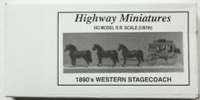 Highway Miniatures 1890's Western Stagecoach Kit~360-234 ~New Old Stock~HO Scale