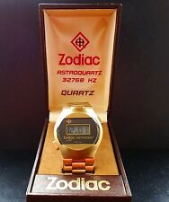 Zodiac Astrodigit LCD Digital Vintage Goldplated Men's Watch 1976