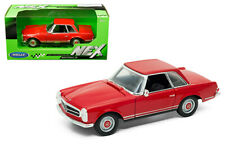 WELLY 1/24 SCALE RED MERCEDES BENZ 230SL DIECAST CAR MODEL 24093RD