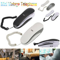 Mini Retro Vintage Hanging Corded Telephone Phone for Home Office Company Hotel