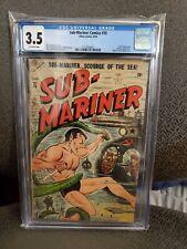 Sub-Mariner Comics #35 CGC 3.5 1954!!! 🔥RARE🔥 ATLAS COMICS🔥