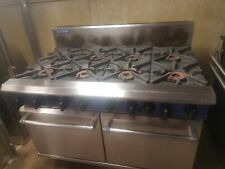 Blue seal commercial catering equipment 8 burner gas cooker/range double oven
