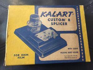 Antique Kalart Custom 8 Splicer Model S-4 for 8mm Film U.S.A. Box, Instructions