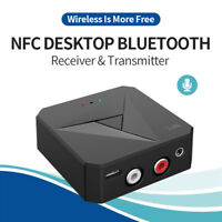 Bluetooth 5.0 Adapter Dongle AUX RCA Audio Receiver Transmitter mit NFC