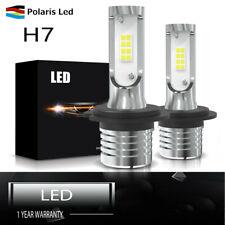 1600LM LED H7 Headlight 6500K HID White bulbs Pair w/ Warranty 12V-24V