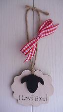 Valentines Day Wooden plaque SHEEP friend birthday  Quirky gift