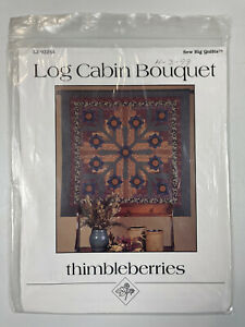 """Thimbleberries Wall Quilt Pattern Log Cabin Bouquet Sew Big Quilts 58.5"""" Square"""