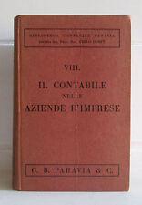 IL CONTABILE NELLE AZIENDE D'IMPRESE  Paravia 1933 Carlo Dompé