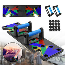 New listing 9 in1 Push Up Board Rack Home Gym Training Muscle Exercise Fitness Sports Stand