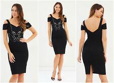 Karen Millen Embellished Bardot Dress Size 14