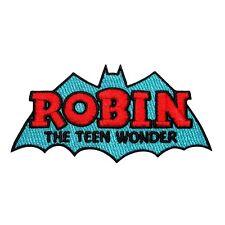 """Robin: The Teen Wonder"" Titans Patch Batman Comics Superhero Iron-On Applique"