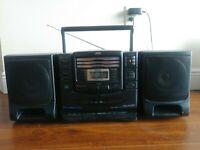 Vintage JVC PC-XC20 - Stereo Boombox - 3 Disc CD Changer Cassette BASS