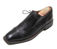 Fratelli Borgioli Black Captoe Oxford Leather Dress Shoes Men's Eu 44 - US 11