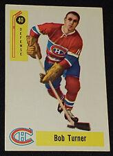 1958-1959 - PARKHURST - BOB TURNER - MONTREAL CANADIENS - NHL - HOCKEY CARD #40