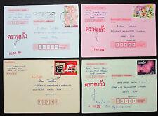 Thailand 4x Brief mit Briefmarken und Stempel (H-8805