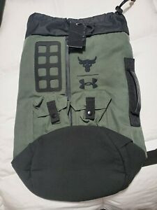 Under Armour Project Rock 60 Bag. Guardian Green/ Black New