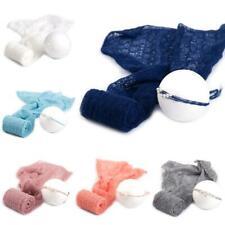 2 Pcs Baby Photography Props Blanket Wraps Stretch Knit Wrap Photo Newborn Cloth
