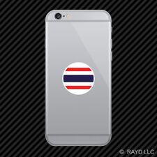 Round Thai Flag Cell Phone Sticker Mobile Die Cut Thailand