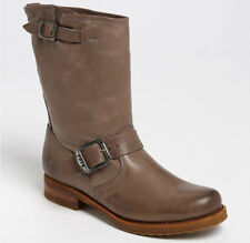 NEW FRYE Womens Veronica Shortie Short Grey Leather Pull-On Boots Size 6.5 $298