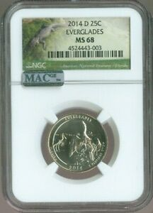 2014-D Everglades National Parks Quarter NGC MAC MS68 Quality ✔️