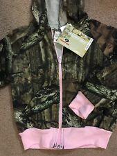 NEW Mossy Oak Camouflage  & Pink GIRL'S Hooded Fleece Zip Up Jacket Size 4-5