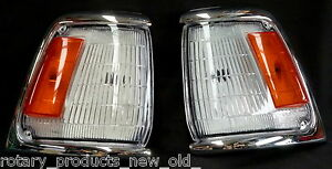 FRONT CORNER INDICATOR LIGHTS PAIR FITS TOYOTA HILUX LN85 1988 - 1997 336