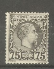 "MONACO STAMP TIMBRE N°8 "" CHARLES III 75c NOIR SUR ROSE 1885 "" NEUF xx A VOIR"