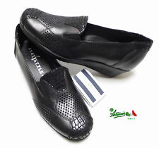 Mocassini donna FLEXSTYLE linea comoda VeraPelle morbide comfort 24973 nero