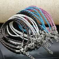25Pcs Mixed Color DIY Knit Leather Cords Ropes for Bracelets Jewelry Making