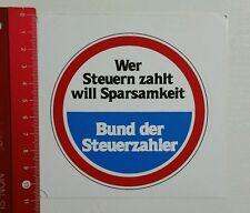 Aufkleber/Sticker: Bund der Steuerzahler (14041677)